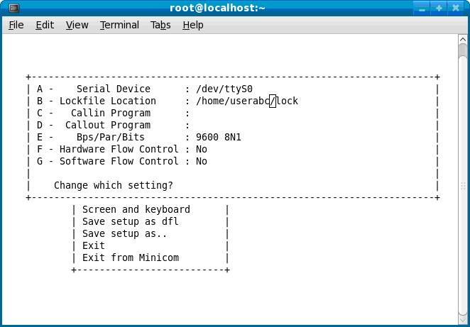 Minicom in Linux - EmbeddedCraft
